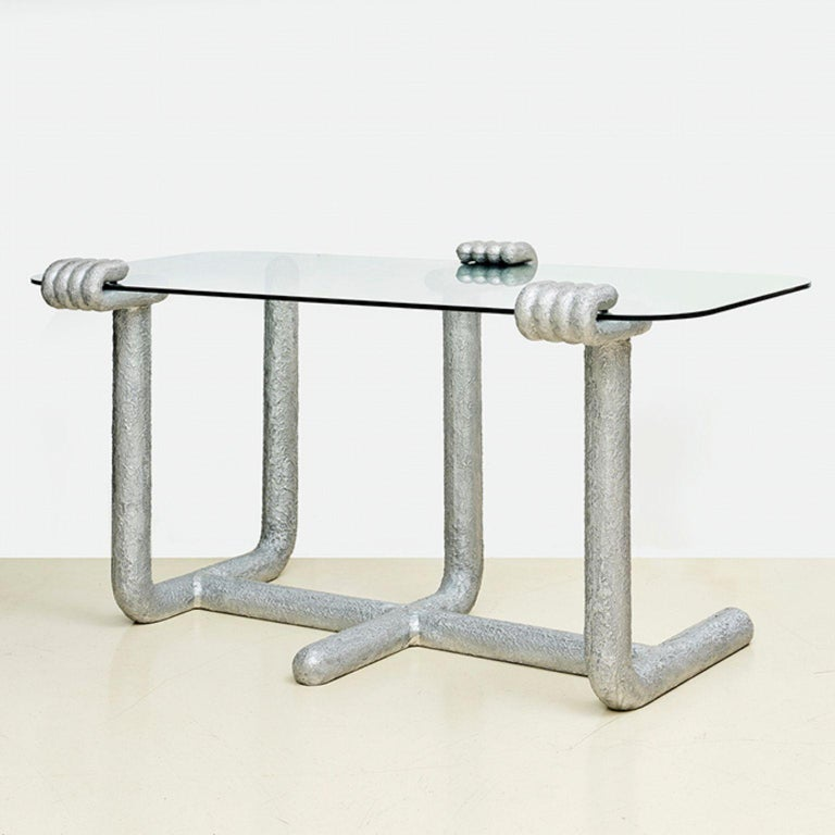 Paw dining table by Hakmin Lee Materials: Aluminium Dimensions: 80 x 150 x 77 cm  Studio HAK is Seoul based studio led by designer Hakmin Lee, who has an ambition of creating our environment bit more humorous through everyday objects.  Studio