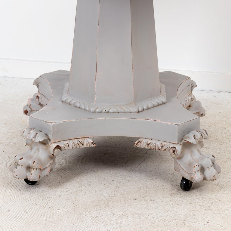 Paw Foot Empire Style Center or Breakfast Table For Sale 1