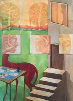 The Attic - Modern Surrealistic Oil Painting