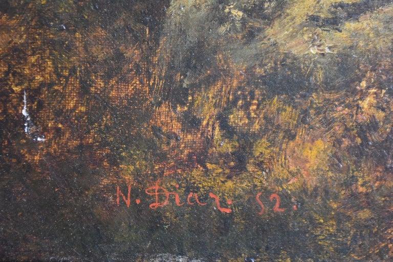 French Paysage de N. Diaz de la Peña fin XIXème For Sale