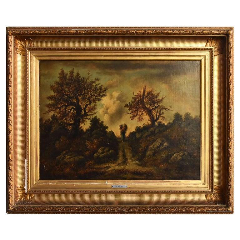 Paysage de N. Diaz de la Peña fin XIXème For Sale