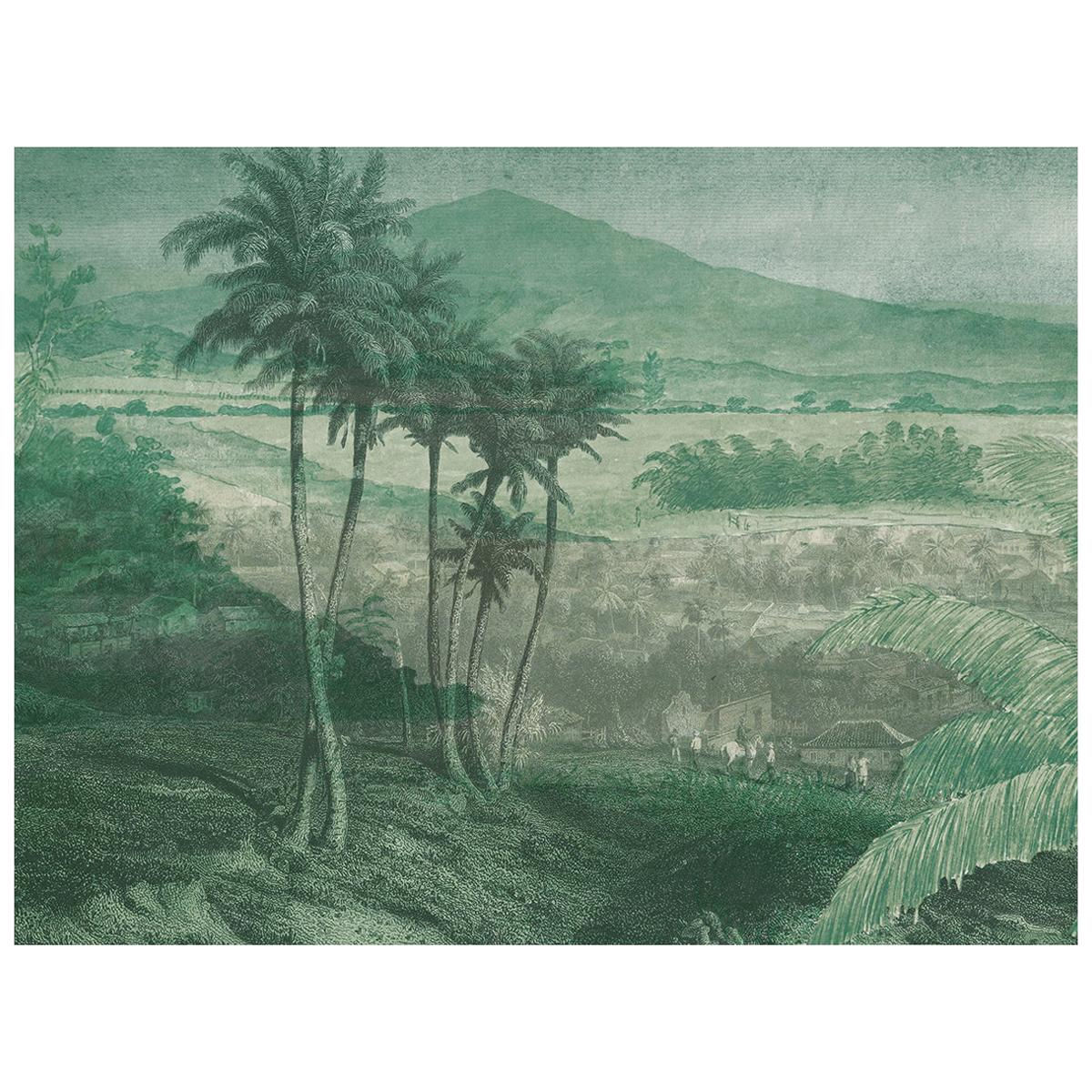 Paysage Lointain - custom mural wallpaper (neutral grey)