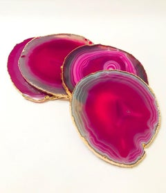 PC Consolidated Listings, Two Sets of Semi-Precious Gemstone Coasters