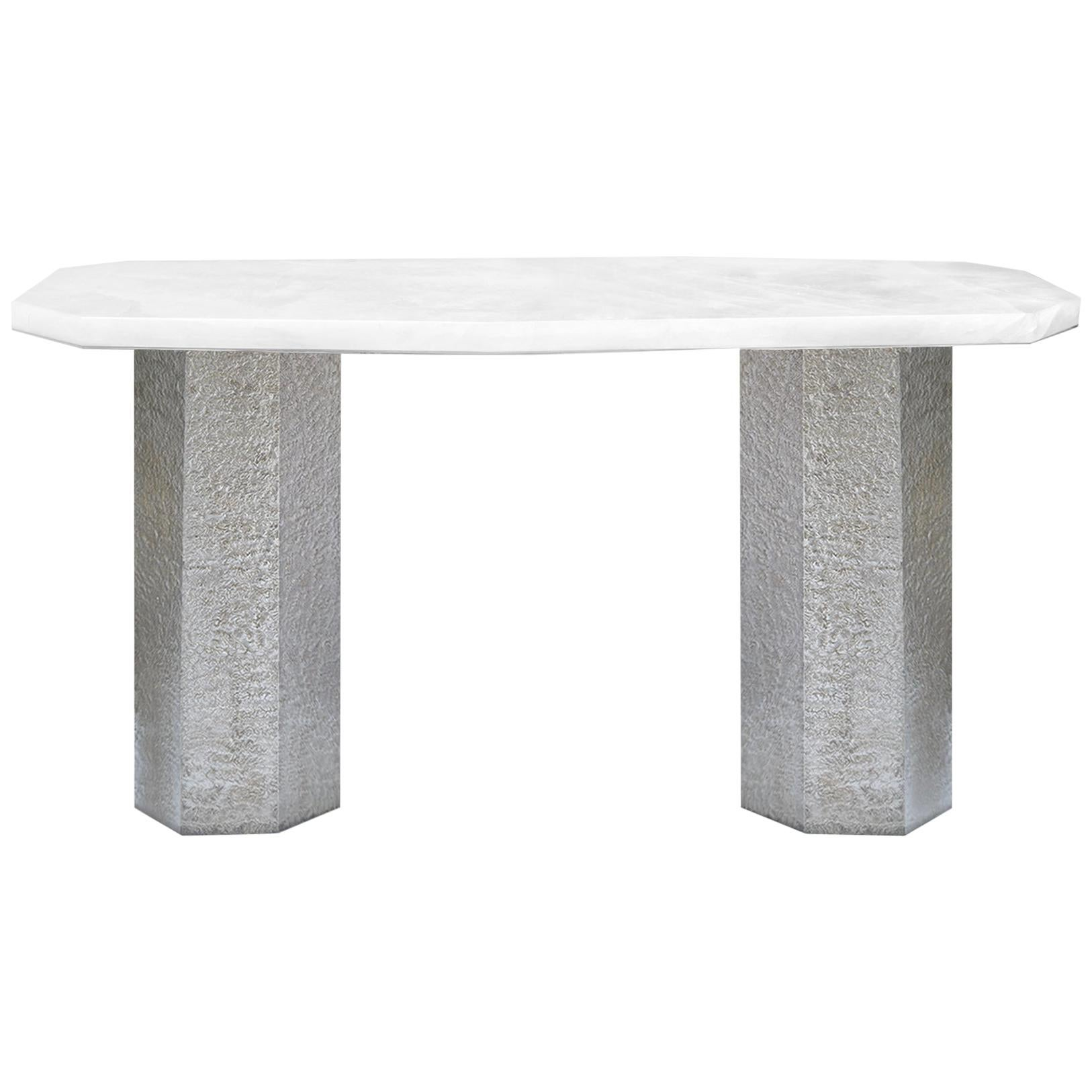 PCR Rock Crystal Console Table by Phoenix