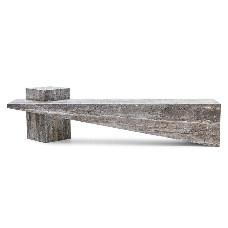 Awe Inspiring P Dr Bench In Grey Marble By Andrea Macruz Brazilian Contemporary Design Unemploymentrelief Wooden Chair Designs For Living Room Unemploymentrelieforg