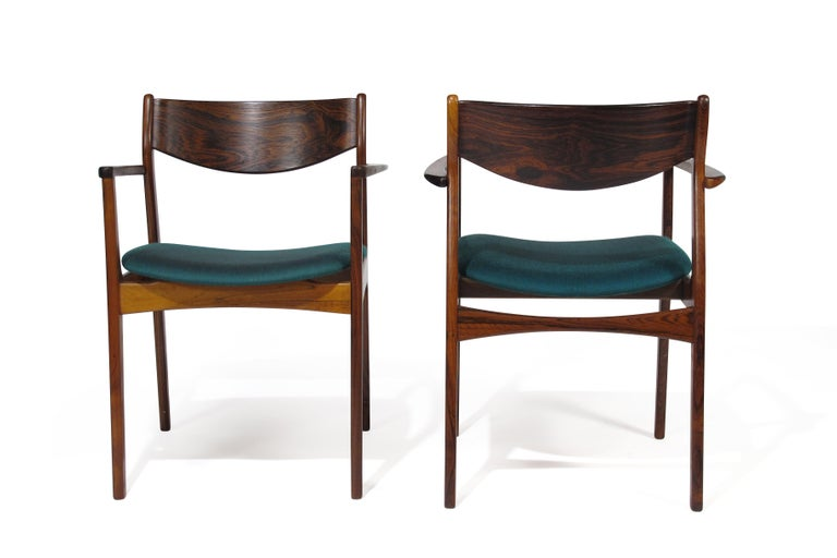 P.E. Jorgensen Rosewood Dining Armchairs For Sale 5
