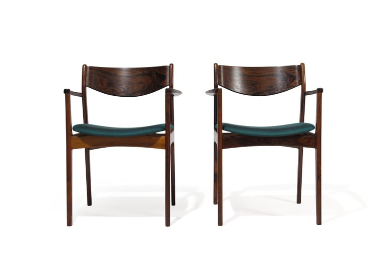 Mid-20th Century P.E. Jorgensen Rosewood Dining Armchairs For Sale