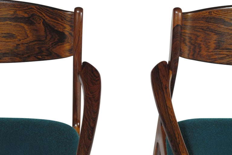 P.E. Jorgensen Rosewood Dining Armchairs For Sale 1