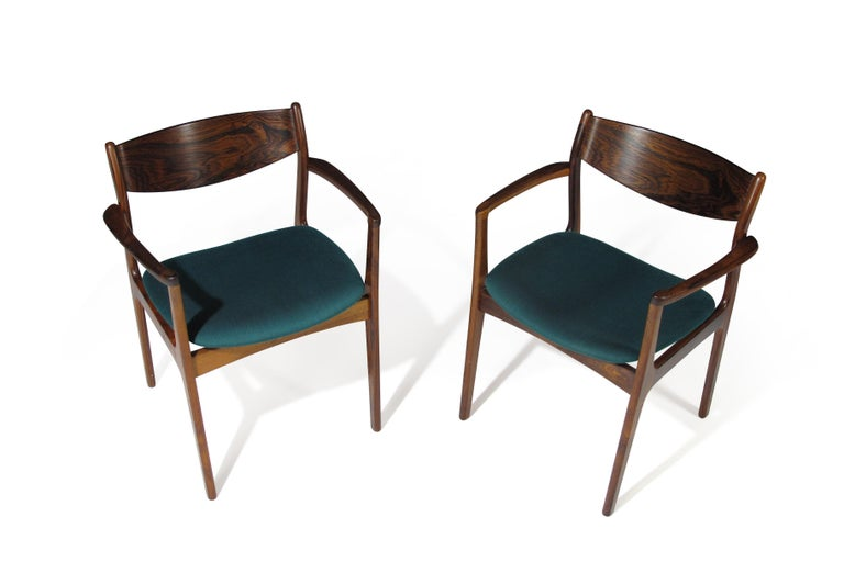 P.E. Jorgensen Rosewood Dining Armchairs For Sale 2