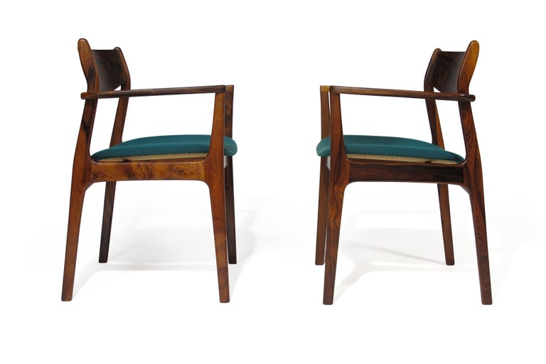 P.E. Jorgensen Rosewood Dining Armchairs For Sale 3