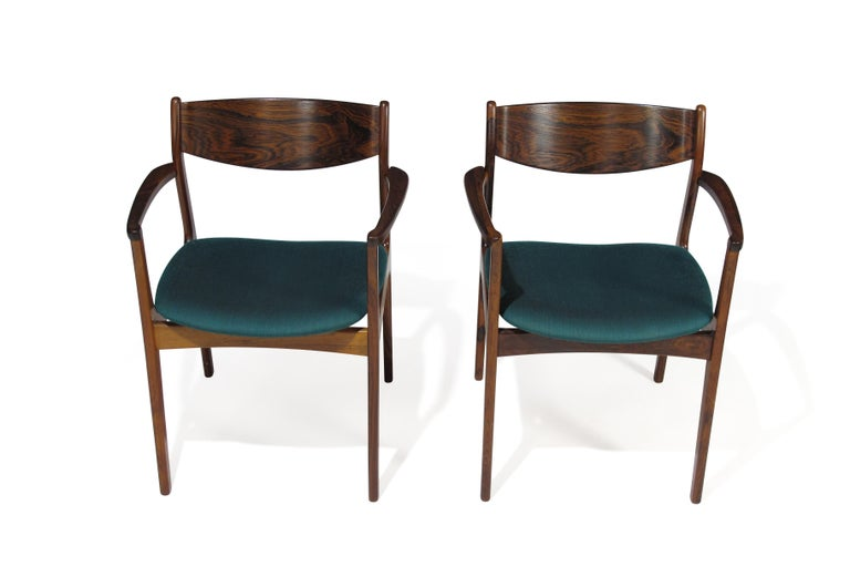 P.E. Jorgensen Rosewood Dining Armchairs For Sale 4