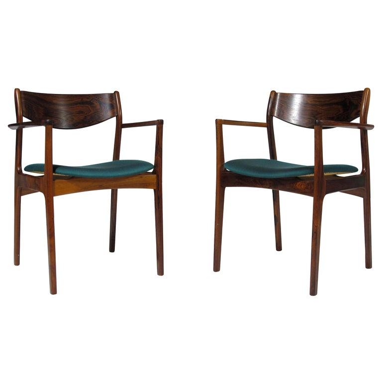 P.E. Jorgensen Rosewood Dining Armchairs For Sale