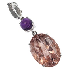 Peach and Purple Shimmering Pendant