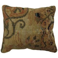 Peach Khaki Antique Sultanabad Pillow