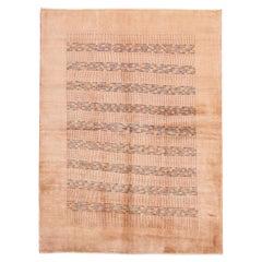 Peach Modern Gabbeh Handmade Wool Rug