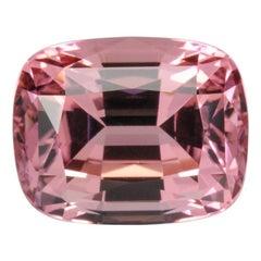 Pink Tourmaline Ring Gem 9.02 Carat Cushion