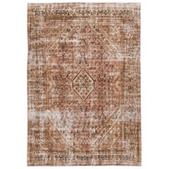 Peach Vintage Malayer Handmade Wool Rug