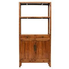 Peach Wood Bookcase From Jiangsu Province, 1840-1860
