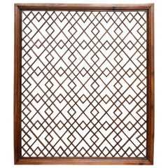 Peachwood Lattice Wall Panel, China, Early 20th Century