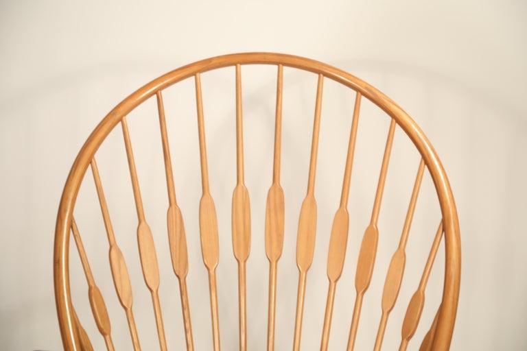 Peacock Chair by Hans Wegner for Johannes Hansen, 1960s Denmark, Signed For Sale 3