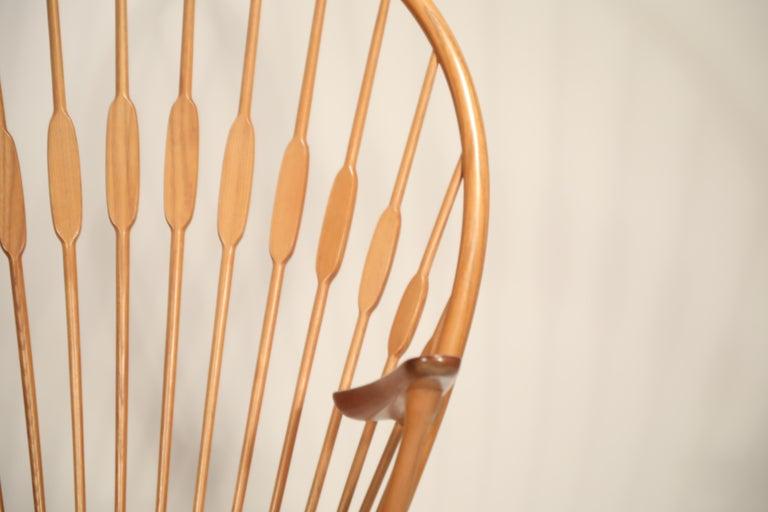 Peacock Chair by Hans Wegner for Johannes Hansen, 1960s Denmark, Signed For Sale 4