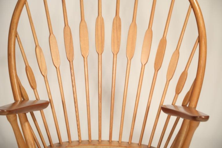 Peacock Chair by Hans Wegner for Johannes Hansen, 1960s Denmark, Signed For Sale 5