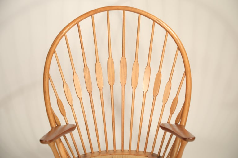 Peacock Chair by Hans Wegner for Johannes Hansen, 1960s Denmark, Signed For Sale 7
