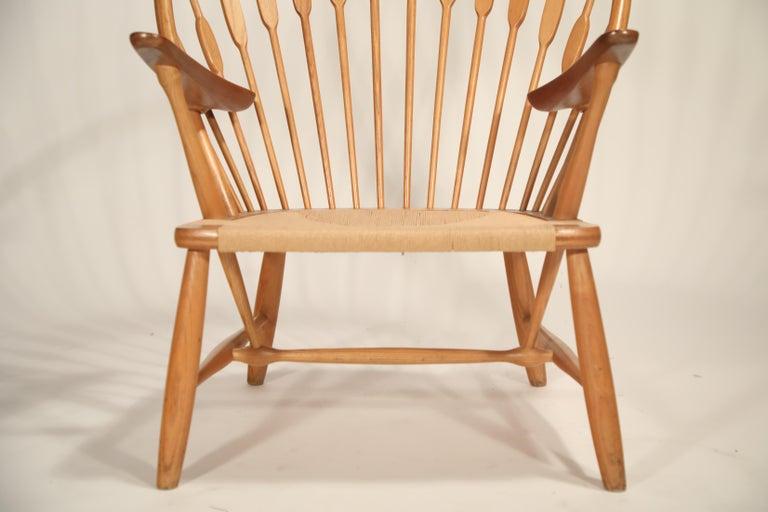 Peacock Chair by Hans Wegner for Johannes Hansen, 1960s Denmark, Signed For Sale 8