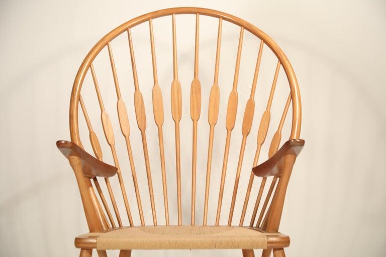 Peacock Chair by Hans Wegner for Johannes Hansen, 1960s Denmark, Signed For Sale 9