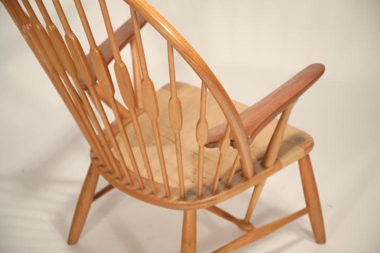 Peacock Chair by Hans Wegner for Johannes Hansen, 1960s Denmark, Signed For Sale 10