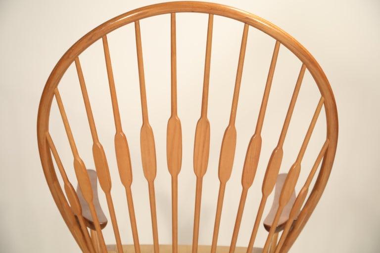 Peacock Chair by Hans Wegner for Johannes Hansen, 1960s Denmark, Signed For Sale 11
