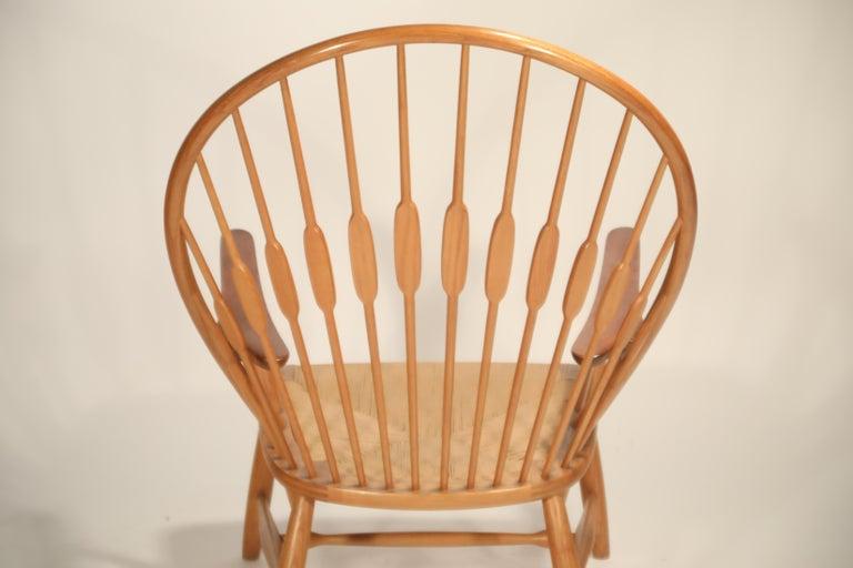 Peacock Chair by Hans Wegner for Johannes Hansen, 1960s Denmark, Signed For Sale 13