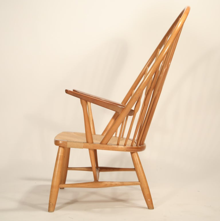 Peacock Chair by Hans Wegner for Johannes Hansen, 1960s Denmark, Signed In Excellent Condition For Sale In Los Angeles, CA