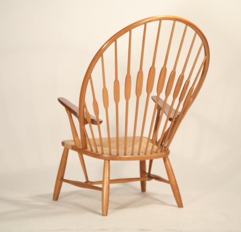 Mid-20th Century Peacock Chair by Hans Wegner for Johannes Hansen, 1960s Denmark, Signed For Sale