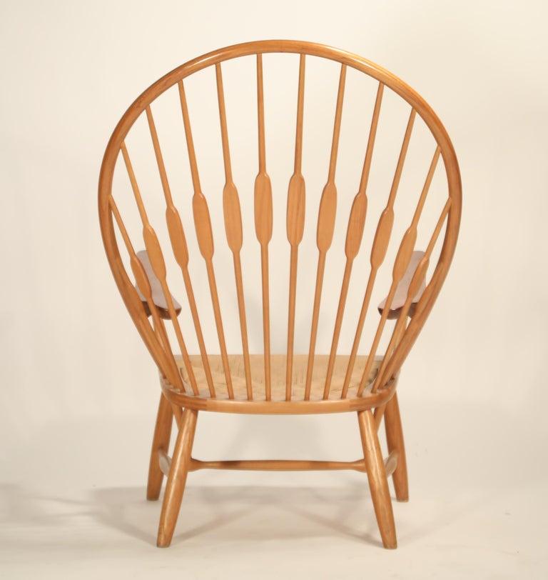 Ash Peacock Chair by Hans Wegner for Johannes Hansen, 1960s Denmark, Signed For Sale