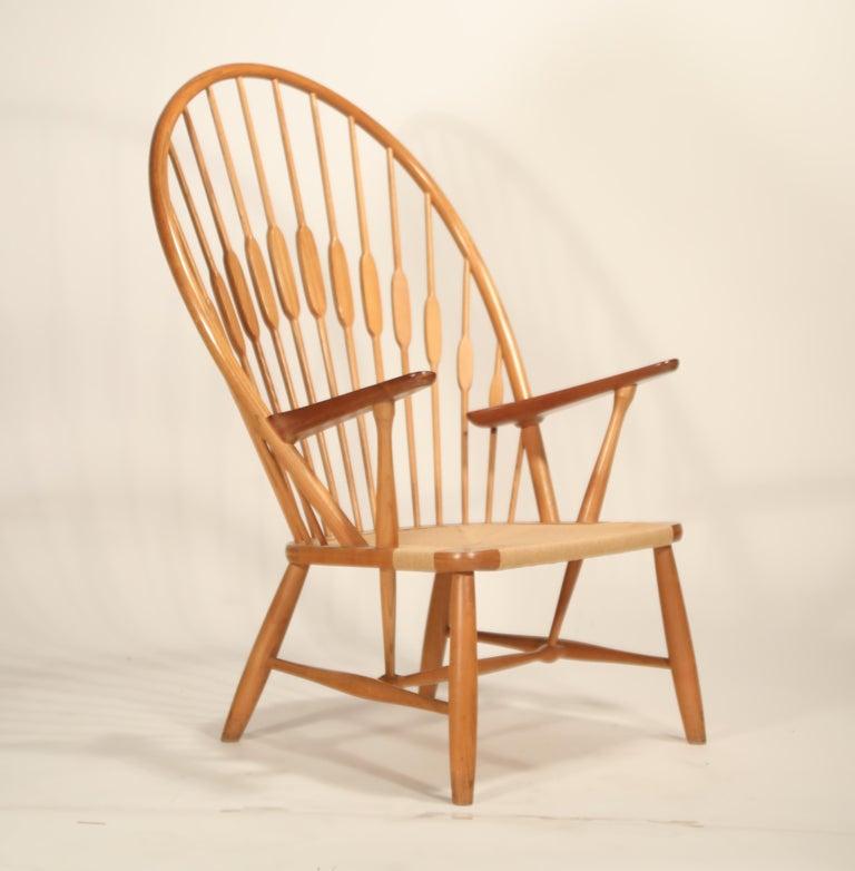 Peacock Chair by Hans Wegner for Johannes Hansen, 1960s Denmark, Signed For Sale 1