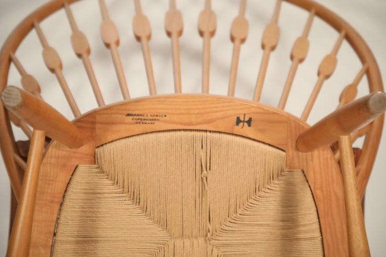 Peacock Chair by Hans Wegner for Johannes Hansen, 1960s Denmark, Signed For Sale 2