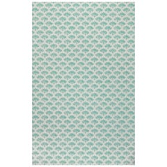 'Peacock' Contemporary, Traditional Wallpaper in Teal