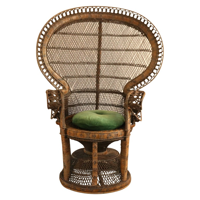Emmanuelle peacock armchair, 1970s, offered by Vintage Home