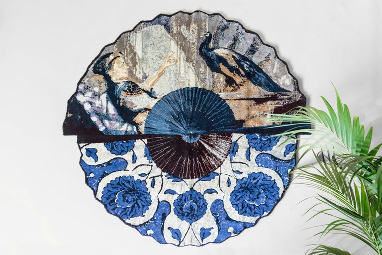 The Peacock rug is a wonderful creation designed by Vito Nesta for Les-Ottomans and is a contemporary reinterpretation of the Orientalist style This handmade and hand knotted wool rug is one the most charming and elegant accessory to decorate your