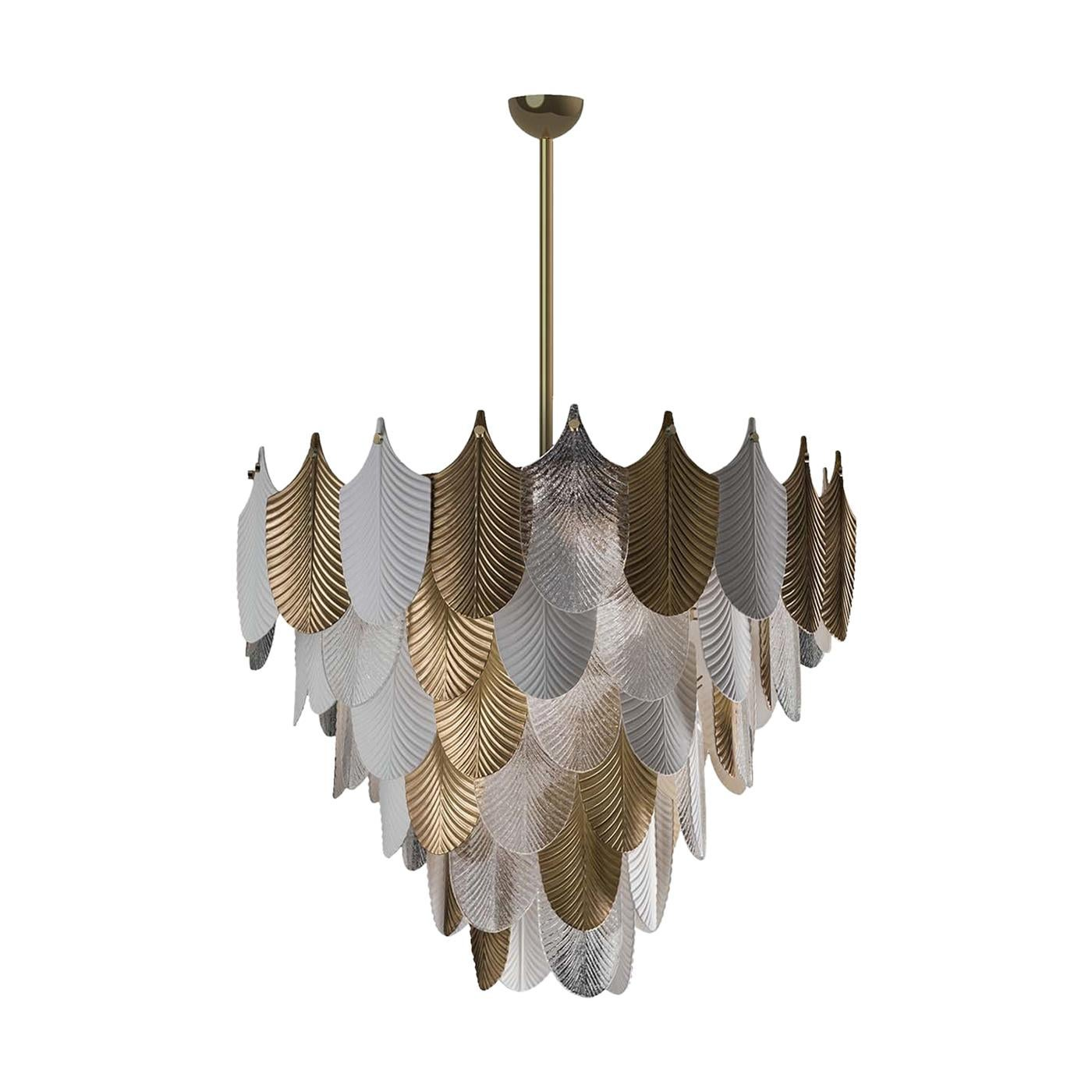 Peacock Large Gold Chandelier