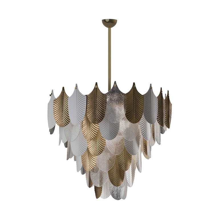 Peacock Large Gold Chandelier For Sale