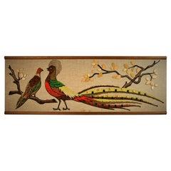 Peacock Mosaic Wall Panel