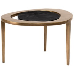 Peacock Nesting Coffee Table in Black Pen Shell and Brass by R&Y Augousti