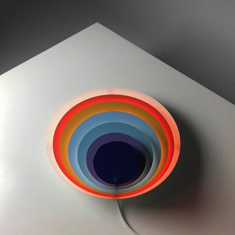 Beautiful Classic Danish 1970s iconic wall light by Bent Karlby for Lyfa, Denmark, 1974.