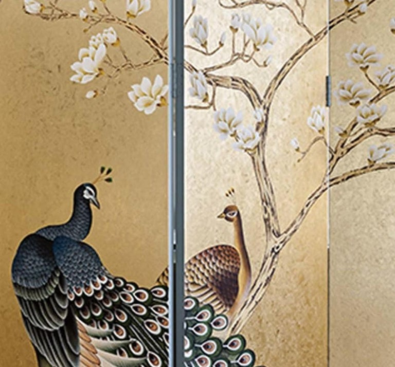 Peacocks Wallpaper In New Condition For Sale In Milan, IT