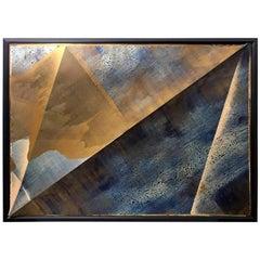 """Peak"" Mixed-Media Painting by Jeffrey Francis Beardsall"