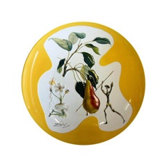 """Dali Large dish designed this Dish """"Don Quichotte"""" Limoges Limited Edition N°320"""