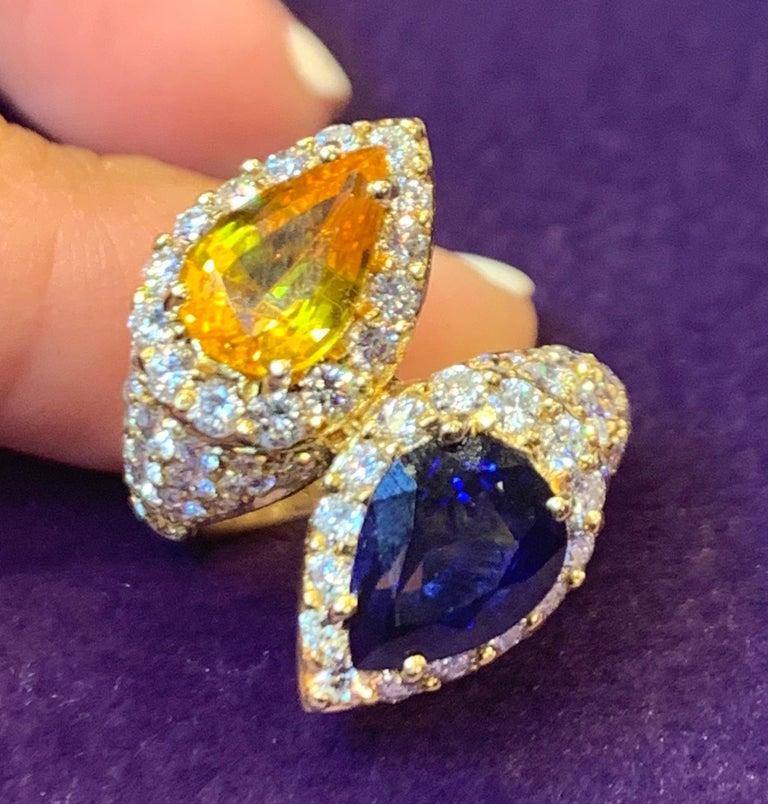 Pear Shape Sapphire & Diamond