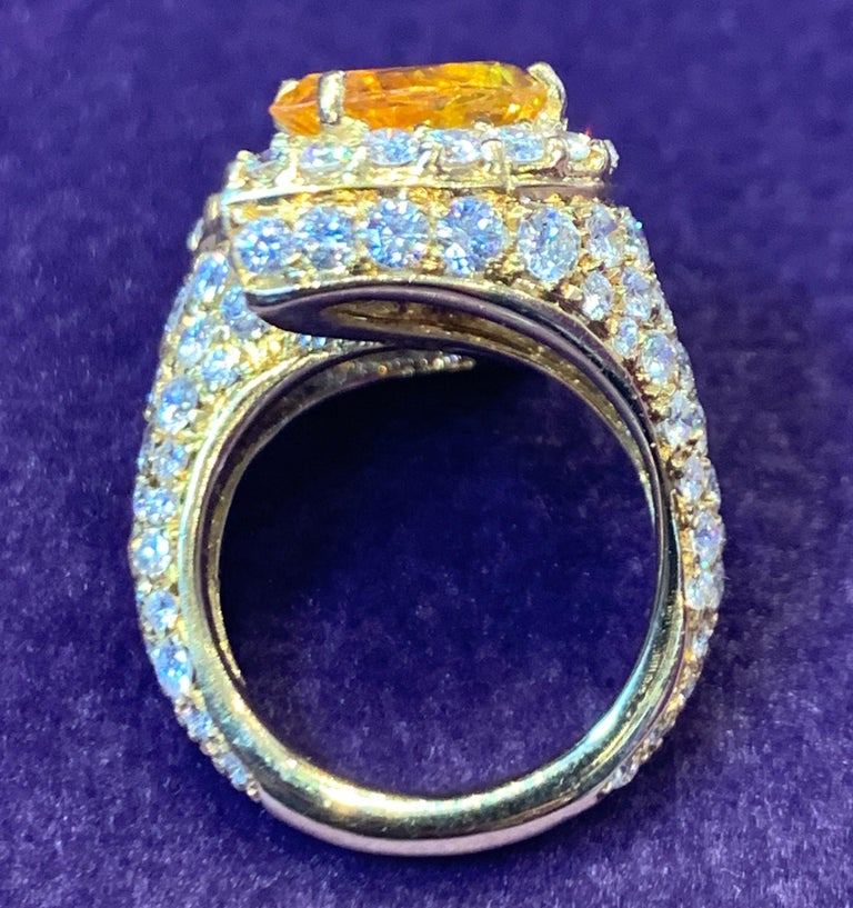 Women's Pear Shape Sapphire and Diamond